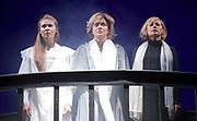 Three Sisters <br /> by Anton Chekhov<br /> Sovremennik Theatre <br /> at Piccadilly Theatre, London, Great Britain <br /> Press photocall / rehearsal <br /> 11th May 2017 <br /> Victoria Romanenko as Irina <br /> Olga Drozdova as Olga <br /> Alyona Babenko as Masha <br /> <br /> <br /> <br /> <br /> <br /> Photograph by Elliott Franks <br /> Image licensed to Elliott Franks Photography Services