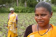 INDE<br /> Ouvri&egrave;res agricoles dans un village d'Intouchables, Kalarpuram.