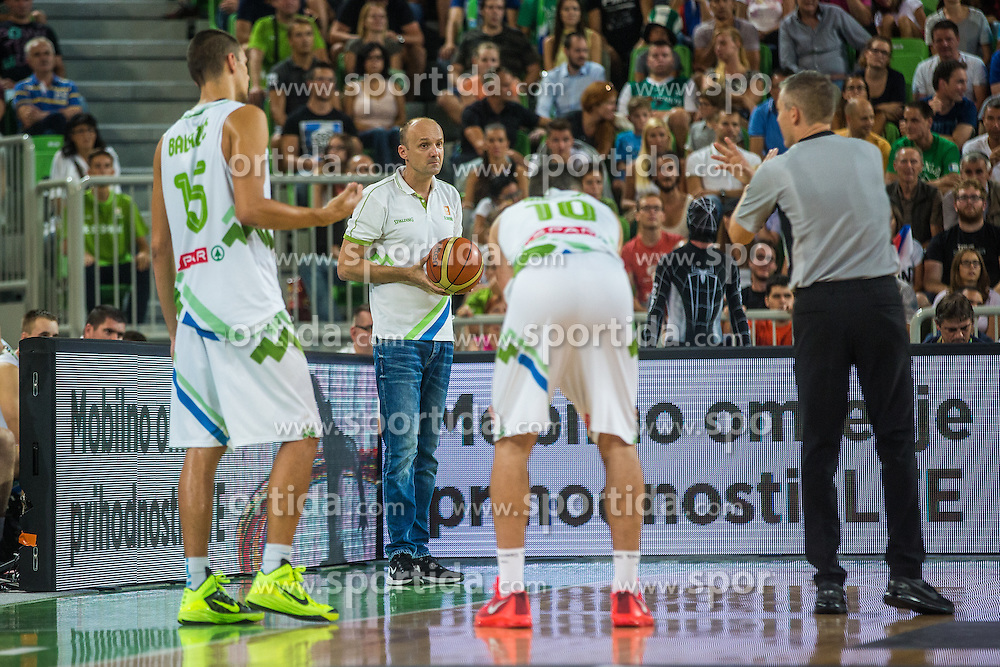 Jure Zdovc, head coach of Slovenian national team during friendly basketball match between National teams of Slovenia and Serbia in arena Stozice, on August 23 in Ljubljana, Slovenia. Photo by Grega Valancic / Sportida August 27, 2015