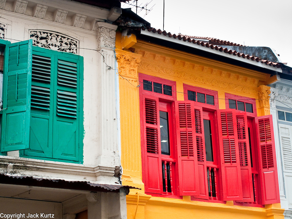 Apr. 28 -- SINGAPORE:   Colorful traditional shophouses in the Little India neighborhood in Singapore.    PHOTO BY JACK KURTZ