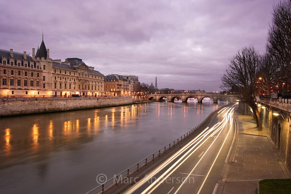 The Conciergerie alongside the River Seine, Paris, France.