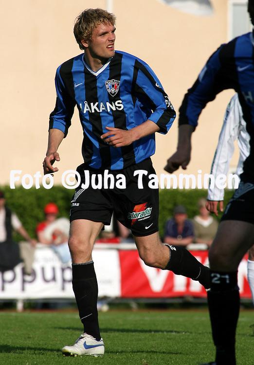 27.05.2007, Wikl?f Holding Arena, Mariehamn, Finland..Veikkausliiga 2007 - Finnish League 2007.IFK Mariehamn - FC Inter Turku.Jos Hooiveld - Inter.©Juha Tamminen.....ARK:k