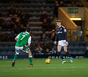 24th January 2018, Dens Park, Dundee, Scottish Premiership, Dundee versus Hibernian; Dundee's Jack Hendry was being watched by scouts from several English Premier League clubs