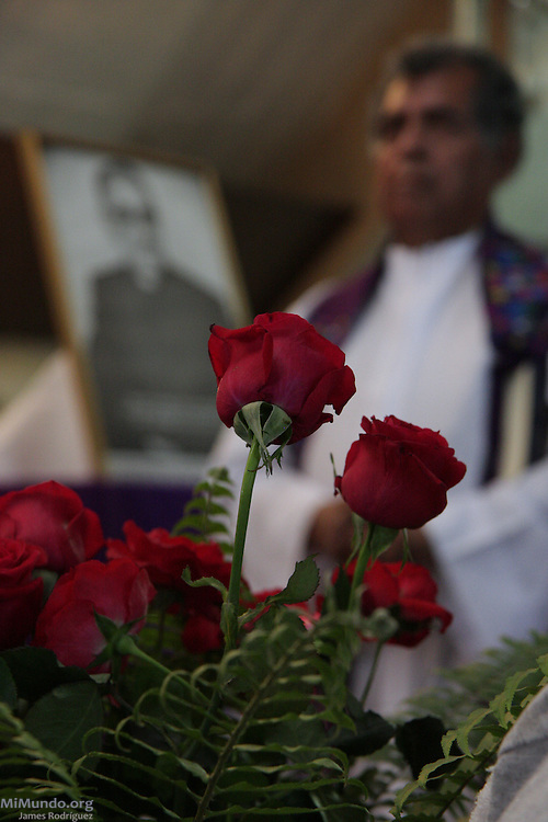 Mourners and religious leaders gather for a mass at the chapel of the Divina Providencia Hospital to commemorate the 30th anniversary of the assassination of Monsignor Oscar Arnulfo Romero. On March 24th, 1980, a professional sniper gunned down Monsignor Romero, Archbishop of San Salvador, as he gave a mass in this same chapel. Monsignor Romero had become a recognized critic of violence and injustice and was therefore perceived as a dangerous enemy by certain military and right wing groups in El Salvador. San Salvador, El Salvador. March 24, 2010.