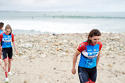Lisa Brennauer (GER) at Amgen Tour of California Women's Race empowered with SRAM 2019 - Team Presentation in Ventura, United States on May 15, 2019. Photo by Sean Robinson/velofocus.com
