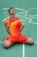 Chen Long, China, Wins Bronze Olympic Badminton London Wembley 2012