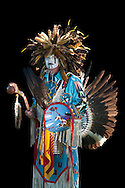 Lee Sorrel Horse,Warm Springs Pow Wow,Oregon,USA.(Model release 0100)