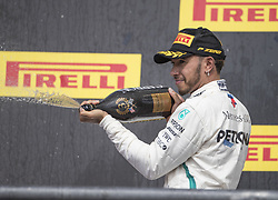 October 21, 2018 - Austin, USA - Mercedes AMG Petronas driver Lewis Hamilton (44) of Great Britain following the Formula 1 U.S. Grand Prix at the Circuit of the Americas in Austin, Texas on Sunday, Oct. 21, 2018. Hamilton finished third. (Credit Image: © Scott Coleman/ZUMA Wire)