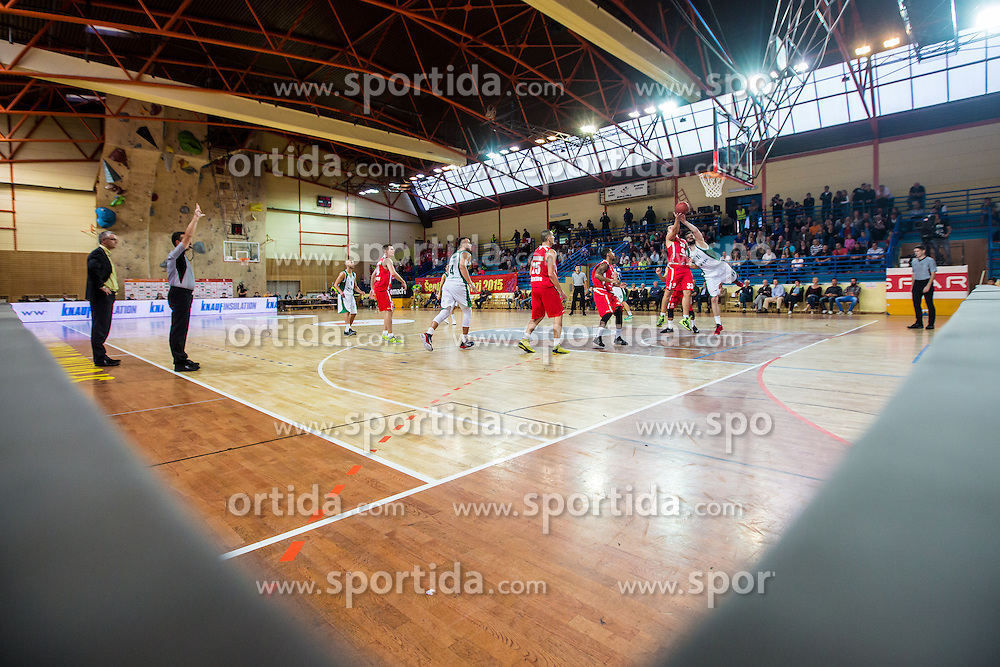 Basketball match between KK Krka Novo mesto and KK Tajfun Sentjur at Superpokal 2015, on September 26, 2015 in SKofja Loka, Poden Sports hall, Slovenia. Photo by Grega Valancic / Sportida.com