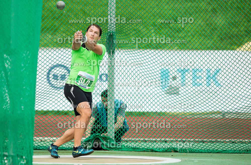 """Primoz Kozmus of Slovenia competes during """"Balkanation 2014"""", athletic tournament of Balkan Region, on September 20, 2014 in Stadium ZAK, Ljubljana, Slovenia. Photo by Vid Ponikvar  / Sportida.com"""