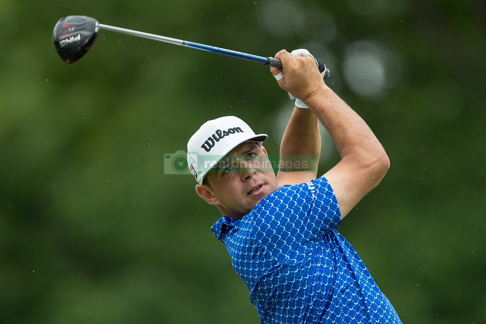 May 30, 2019 - Dublin, OH, U.S. - DUBLIN, OH - MAY 30: Gary Woodland plays his shot from the 18th tee during the Memorial Tournament presented by Nationwide at Muirfield Village Golf Club on May 30, 2018 in Dublin, Ohio. (Photo by Adam Lacy/Icon Sportswire) (Credit Image: © Adam Lacy/Icon SMI via ZUMA Press)