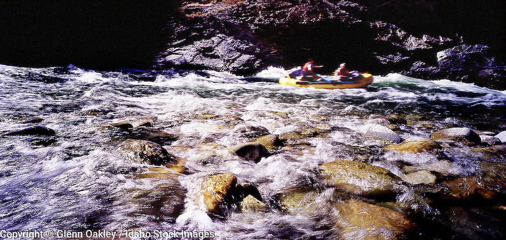 Rafting down the Middle Fork of the Salmon River, Idaho, Frank Church Wilderness.