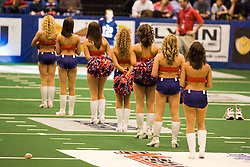 14 March 2009: The Extreme Dance Team on the field for a fan promotion.The Sioux Falls Storm were hosted by the Bloomington Extreme in the US Cellular Coliseum in downtown Bloomington Illinois.