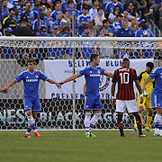 Chelsea organize their defensive line during the Chelsea V AC Milan Guinness International Champions Cup tie at MetLife Stadium, East Rutherford, New Jersey, USA.  4th August 2013. Photo Tim Clayton