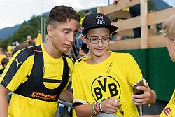 Bad Ragaz, Schweiz 03.08.2016, Trainingslager BV Borussia Dortmund, BVB,  Emre Mor (BVB) macht eine selfie   / 030816<br /> ***Training camp of Borussia Dortmund in Bad Ragaz, Switzerland, August 3rd, 2016***