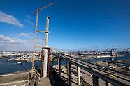 The bridge construction project Gerald Desmond Bridge