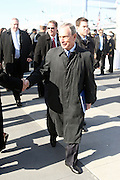 Mayor Michael Bloomberg at the officilal commissioning for The USS New York, whose bow is designed with 7.5 tons of steel from the World Trade Center. It is a San Antonio class amphibious transport dock ship, Ceremony was held at Pier 86 on Novemeber 7, 2009 in New York City