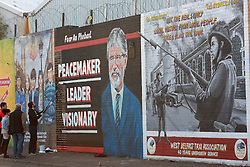 A new mural of Gerry Adams appears on the Falls Road, west Belfast, Northern Ireland, on Friday, 2nd May 2014. Picture by i-Images