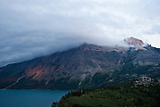 Sunset on Vimy Peak in Waterton Lake National Park, Alberta Canada
