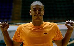 25-04-2013 VOLLEYBAL: NEDERLANDS MANNEN VOLLEYBALTEAM: ROTTERDAM<br /> Selectie Oranje mannen seizoen 2013-2014 / Nimir Abdelaziz<br /> &copy;2013-FotoHoogendoorn.nl