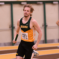 Ret Brailsford in action during the 2018 Canada West Track & Field Championship on February  23 at James Daly Fieldhouse. Credit: Arthur Ward/Arthur Images