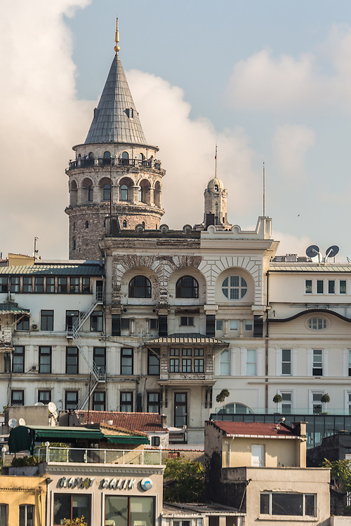 seen from the Golden Horn, the Galata Tower in the background