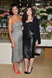 Left to right, ZAWE ASHTON and DAISY LOWE at a screening of 2 short films as part of the Corinthia Hotel's Artist in Residence held at The Corinthia Hotel, Northumberland Avenue, London on 12th May 2014.