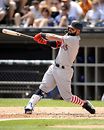 CHICAGO - JULY 01:  Rougned Odor #12 of the Texas Rangers bats against the Chicago White Sox on July 1, 2017 at Guaranteed Rate Field in Chicago, Illinois.  The Rangers defeated the White Sox 10-4.  (Photo by Ron Vesely) Subject:   Rougned Odor
