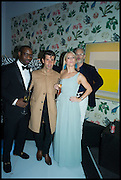 SANYIKA ODIETE; PETRA FAGRELL; ANDRE SARAIVA,  L, Sotheby's Frieze week party. New Bond St. London. 15 October 2014.