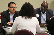 Houston ISD Business Assistance staff facilitate a Mentor Protege program, August 10, 2016.
