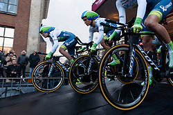 Orica-AIS begin their Energiewacht Tour - Energiewacht Tour 2016 - Stage 1. A 11.3km team time trial starting and finishing in Groningen.