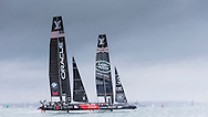 Image licensed to Lloyd Images. Free for editorial use. <br /> Pictures of Official Practice Day 24.07.15 - Oracle Team USA skippered by Jimmy Spithill &amp; Land Rover BAR Racing Team skippered by Sir Ben Ainslie (GBR) <br /> Credit: Lloyd Images