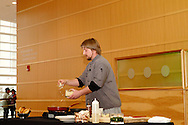 Citilites executive chef Tim Schonsheck does a cooking demonstration during the 10th Anniversary Open House at the Schuster Center in downtown Dayton, Saturday, March 2, 2013.