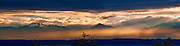 The Olympic Mountains at Dusk. Sometimes the image has to be a panoramic view.