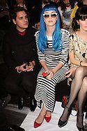 PARIS, FRANCE - MARCH 08:  Katy Perry attends the Jean-Charles de Castelbajac Ready to Wear Autumn/Winter 2011/2012 show during Paris Fashion Week at Pavillon Concorde on March 8, 2011 in Paris, France.  (Photo by Tony Barson/WireImage)
