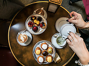 Milan, GIACOMO, caffè di Palazzo Reale,  Pasticcini vari . Caffè Letterario in Palazzo Reale was born from the desire to follow in the footsteps of cafés found in the most famous museums in the world. It is a space where culture blends with the art of food, making for an interesting meeting place. At Giacomo Coffee you can start your day with a tasty breakfast of delicious homemade pastries or you can enjoy lunch choosing dishes prepared by Giacomo chefs, expertly offering traditional Italian fare in the daily menu. The room on the first floor is instead the perfect place to sip a cup of tea from the prestigious Mariages Frerès selection, while leafing through the catalogs of exhibitions held at Palazzo Reale over the last 25 years.