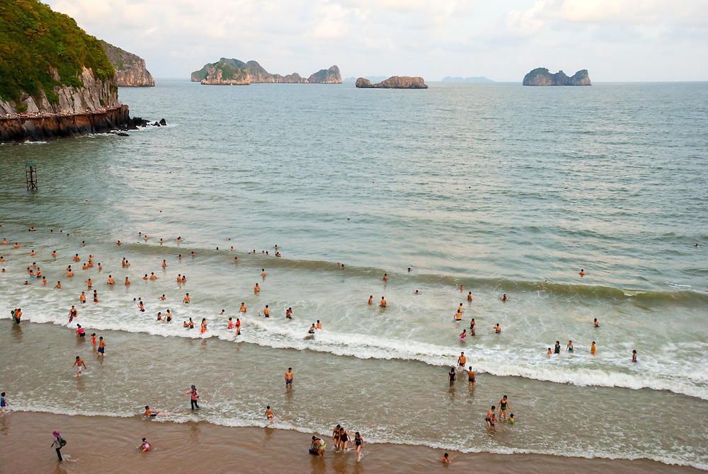 Beach on Cat Ba Island in Halong Bay, Vietnam
