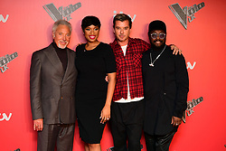 Coaches (left-right) Sir Tom Jones, Jennifer Hudson, Gavin Rossdale and will.i.am attending the Voice UK Launch at Millbank Tower, London.