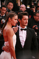 Natasha Andrews and Pierre Niney at the the How to Train Your Dragon 2 gala screening red carpet at the 67th Cannes Film Festival France. Friday 16th May 2014 in Cannes Film Festival, France.