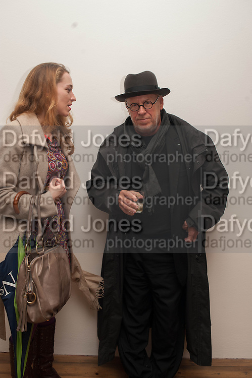 MARY LANE; JOSEPH KOSUTH, Opening of Morris Lewis: Cyprien Gaillard. From Wings to Fins, Sprüth Magers London Grafton St. London. Afterwards dinner at Simpson's-in-the-Strand hosted by Monika Spruth and Philomene Magers.