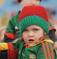 Young Mayo fans at the team&rsquo;s homecoming in McHale park yesterday.<br /> Pic Conor McKeown
