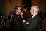 ANTHONY LANE, Seamus Heaney reading and party. Irish Embassy. Grosvenor Place. 21 April 2006. ONE TIME USE ONLY - DO NOT ARCHIVE  © Copyright Photograph by Dafydd Jones 66 Stockwell Park Rd. London SW9 0DA Tel 020 7733 0108 www.dafjones.com
