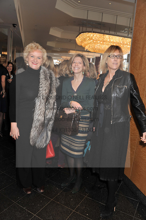 Left to right, KITTY ARDEN, COUNTESS MAYA DI ROBILANT and SHONA STOPFORD-SACKVILLE  at a ladies lunch in support of Maggie's Barts hosted by Judy Naake, Clara Weatherall and Caroline Collins at Le Cafe Anglais, 8 Porchester Gardens, London W2 on 19th March 2013.