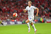 England's Harry Kane on the attack  during the UEFA European 2016 Qualifying match between England and Switzerland at Wembley Stadium, London, England on 8 September 2015. Photo by Shane Healey.