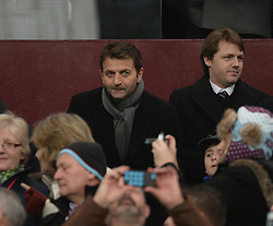 Aston Villa's Manger Tim Sherwood takes his seat at villa park. - Photo mandatory by-line: Alex James/JMP - Mobile: 07966 386802 - 15/02/2015 - SPORT - Football - Birmingham - Villa Park - Aston Villa v Leicester City - FA Cup - Fifth Round