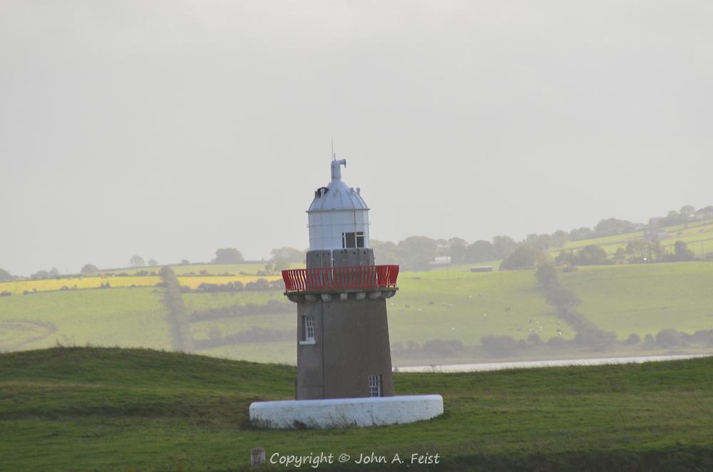 A lighthouse along the shore in Sligo, County Sligo, Ireland.
