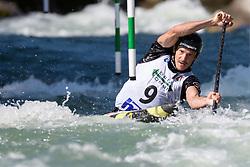 Anze BERCIC of Slovenia during the Canoe Single (C1) Men SemiFinal race of 2019 ICF Canoe Slalom World Cup 4, on June 28, 2019 in Tacen, Ljubljana, Slovenia. Photo by Sasa Pahic Szabo / Sportida