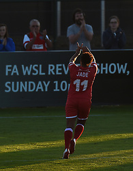 Bristol Academy's Jade Boho Sayo celebrates her goal - Mandatory by-line: Paul Knight/JMP - Mobile: 07966 386802 - 27/08/2015 -  FOOTBALL - Stoke Gifford Stadium - Bristol, England -  Bristol Academy Women v Oxford United Women - FA WSL Continental Tyres Cup