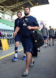 Nicky Thomas and the rest of the Bristol Bears team arrive at the Stoop - Mandatory byline: Patrick Khachfe/JMP - 07966 386802 - 20/09/2019 - RUGBY UNION - The Twickenham Stoop - London, England - Harlequins v Bristol Bears - Premiership Rugby Cup