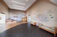 Architectural interior of Carroll Hospital Center Couplet Care Center in Westminster MD by Jeffrey Sauers of CPI Productions